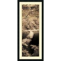 Framed Art Print 'A Quiet Stroll II' by Ily Szilagyi 18 x 42-inch