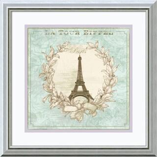 David Fischer 'Tour de Eiffel' Framed Art Print 18 x 18-inch