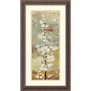 Asia Jensen 'Blossom Canopy II' Framed Art Print 14 x 26-inch
