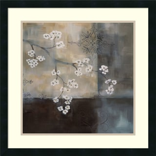Framed Art Print 'Spa Blossom II' by Laurie Maitland 25 x 25-inch