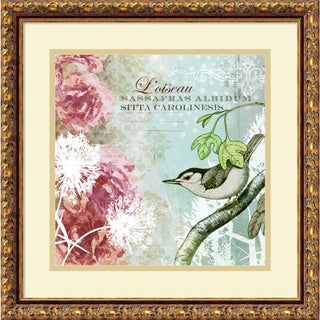 Meringue 'Tiffany Nature I' Framed Art Print 18 x 18-inch
