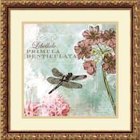 Framed Art Print 'Tiffany Nature II' by Meringue 18 x 18-inch