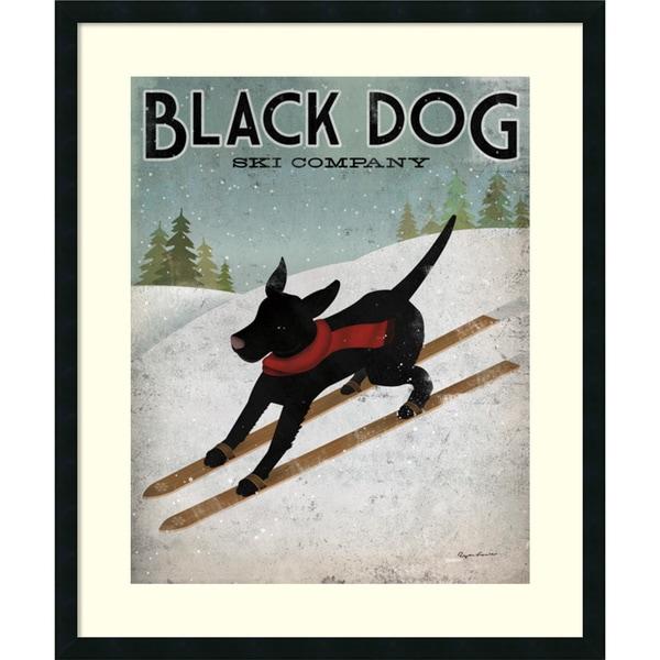 Framed Art Print 'Black Dog Ski Co.' by Ryan Fowler 30 x 36-inch
