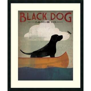 Ryan Fowler 'Black Dog Canoe' Framed Art Print 30 x 36-inch