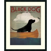Framed Art Print 'Black Dog Canoe Co.' by Ryan Fowler 30 x 36-inch