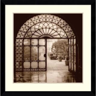 Framed Art Print 'Courtyard in Venezia' by Alan Blaustein 33 x 33-inch