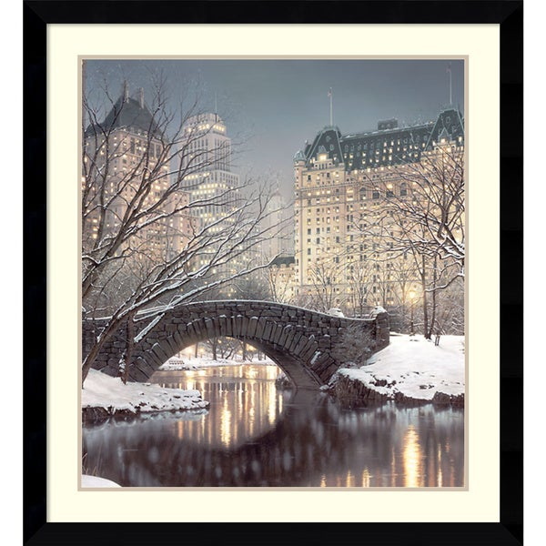 Framed Art Print 'Twilight in Central Park' by Rod Chase 35 x 38-inch