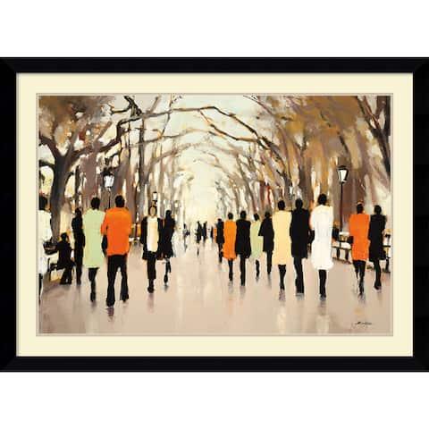 Framed Art Print 'Poet's Walk' by Lorraine Christie 43 x 32-inch