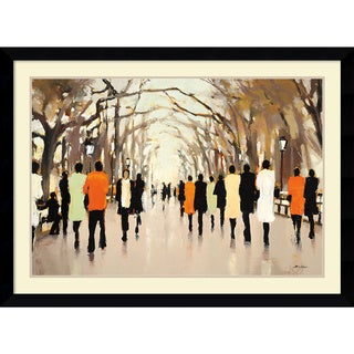 Framed Art Print 'Poet's Walk' by Lorraine Christie 43 x 32-inch