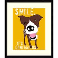 Framed Art Print 'Smile' by Ginger Oliphant 16 x 19-inch