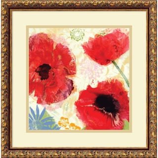 Meringue 'Poppies Painterly I' Framed Art Print 18 x 18-inch