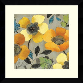 Framed Art Print 'Yellow and Orange Poppies II' by Allison Pearce 27 x 27-inch