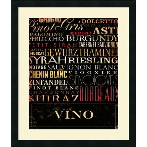 Framed Art Print 'Vino Type' by Stephen Fowler 22 x 26-inch
