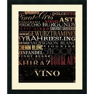 Stephen Fowler 'Vino Type' Framed Art Print 22 x 26-inch