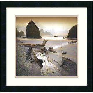 William Vanscoy 'She Sleeps In The Sand' Framed Art Print 18 x 18-inch