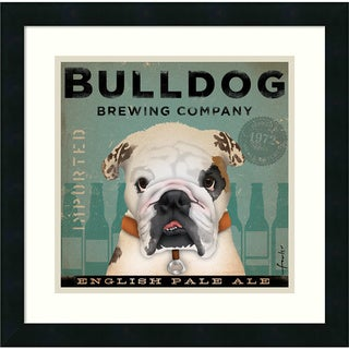 Stephen Fowler 'Bulldog Brewing' Framed Art Print 18 x 18-inch