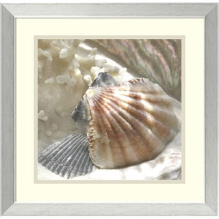 Donna Geissler 'Coral Shell III' Framed Art Print 18 x 18-inch