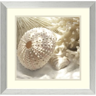 Framed Art Print 'Coral Shell I' by Donna Geissler 18 x 18-inch