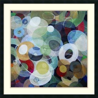 Michael den Hertog 'Circles 8' Framed Art Print 34 x 34-inch