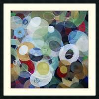 Framed Art Print 'Circles 8' by Michael den Hertog 34 x 34-inch