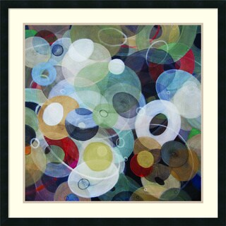 Framed Art Print 'Circles 8' by Michael den Hertog 34 x 34-inch