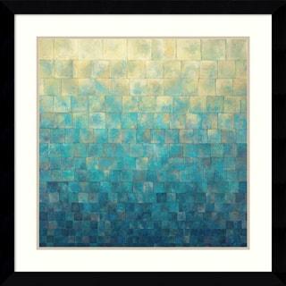 Framed Art Print 'Cascade' by Janelle Kroner 33 x 33-inch