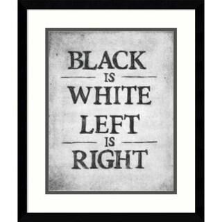 Framed Art Print 'Black is White' by Urban Cricket 16 x 19-inch