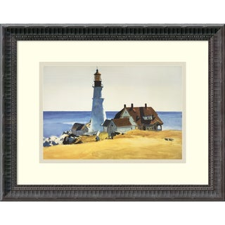 Edward Hopper 'Lighthouse and Buildings, Portland Head, 1927' Framed Art Print 18 x 15-inch