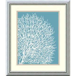 Sabine Berg 'Aqua Coral II' Framed Art Print 17 x 20-inch