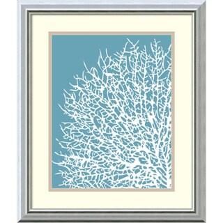 Sabine Berg 'Aqua Coral I' Framed Art Print 17 x 20-inch