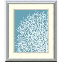 Framed Art Print 'Aqua Coral I' by Sabine Berg 17 x 20-inch