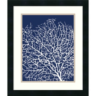 Framed Art Print 'Navy Coral I' by Sabine Berg 17 x 20-inch