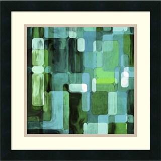 Framed Art Print 'Modular Tiles II' by James Burghardt 18 x 18-inch