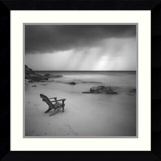 Moises Levy 'Storm' Framed Art Print 26 x 26-inch