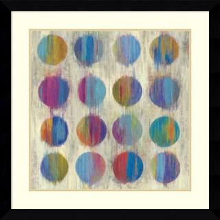 Framed Art Print 'Ikat Dots II' by Aimee Wilson 33 x 33-inch