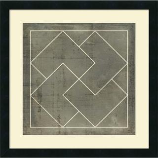 Framed Art Print 'Geometric Blueprint III' by Vision Studio 21 x 21-inch