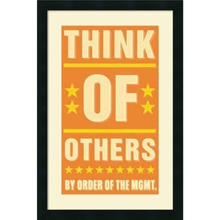 John W. Golden 'Think of Others' Framed Art Print 18 x 26-inch