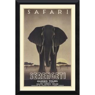Steve Forney 'Serengeti' Framed Art Print 30 x 44-inch