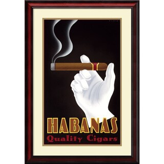 Framed Art Print 'Habanas Quality Cigars' by Steve Forney 24 x 34-inch