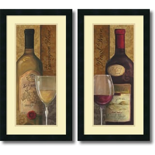 Framed Art Print 'From the Cellar - set of 2' by Lisa Audit 14 x 26-inch Each