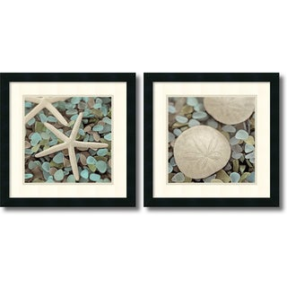Framed Art Print 'Aquatic - set of 2' by Alan Blaustein 18 x 18-inch Each