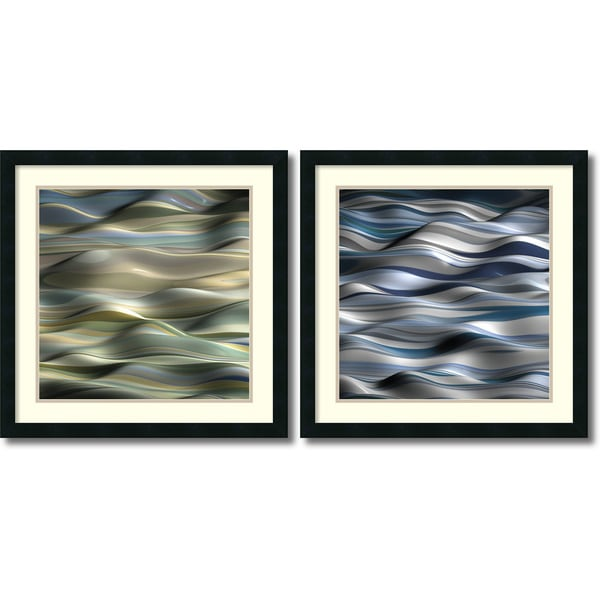 Framed Art Print 'Undulation - set of 2' by J.P. Clive 24 x 24-inch Each