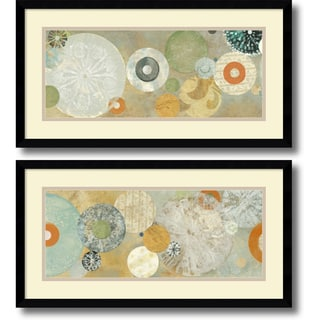 Carmen Dolce 'Beach Spa- set of 2' Framed Art Print 25 x 13-inch Each