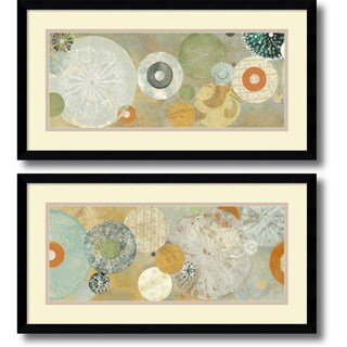 Framed Art Print 'Beach Spa - set of 2' by Carmen Dolce 25 x 13-inch Each