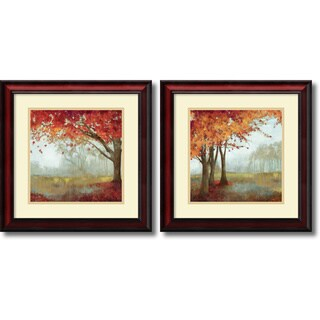 Asia Jensen 'A Sense of Space- set of 2' Framed Art Print 19 x 19-inch Each