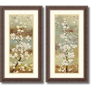 Asia Jensen 'Blossom Canopy- set of 2' Framed Art Print 14 x 26-inch Each