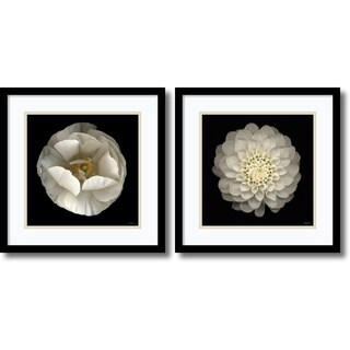 Framed Art Print 'Levine Florals - set of 2' by Neil Seth Levine 17 x 17-inch Each