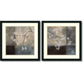 Laurie Maitland 'Spa Blossom, Large- set of 2' Framed Art Print 25 x 25-inch Each