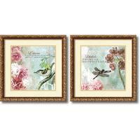 Framed Art Print 'Tiffany Nature  - set of 2' by Meringue 18 x 18-inch Each