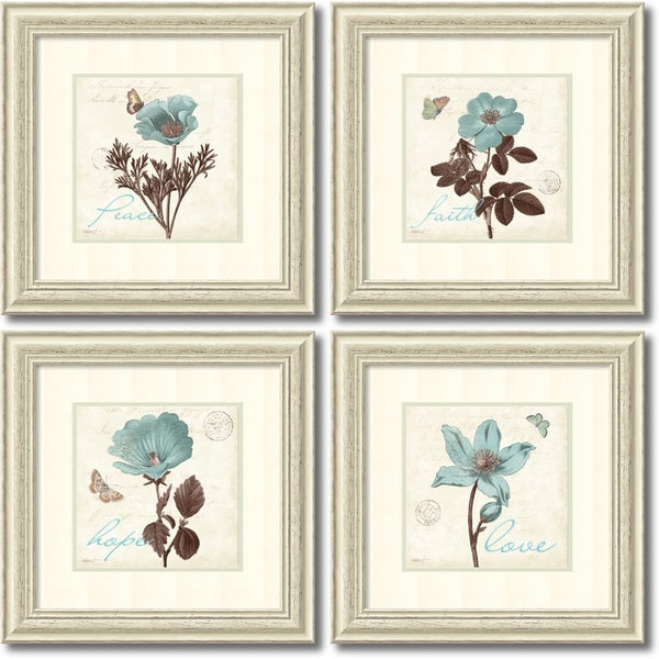 framed art print 39 touch of blue set of 4 39 by katie. Black Bedroom Furniture Sets. Home Design Ideas